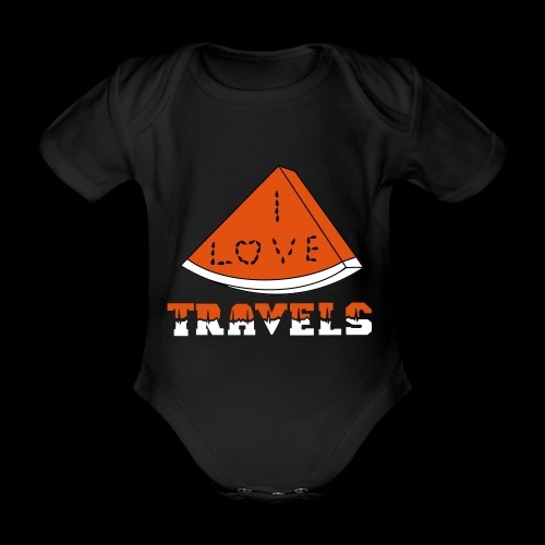 I LOVE TRAVELS FRUITS for life - Organic Short-sleeved Baby Bodysuit