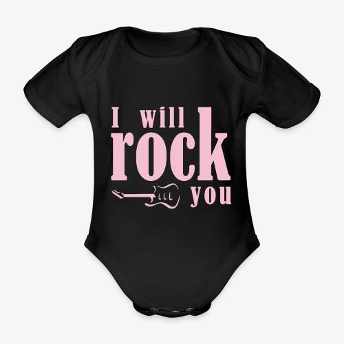I will rock you design rosa - Body ecologico per neonato a manica corta