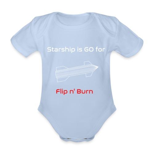 Starship-like Wireframe is Ready for Flip n' Burn - Organic Short-sleeved Baby Bodysuit