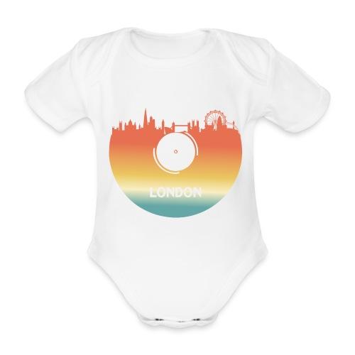 London Skyline Vinyl Schallplatte London Souvenir - Baby Bio-Kurzarm-Body