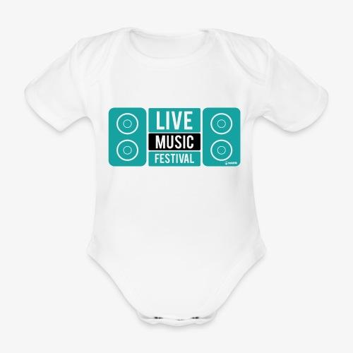 Amo la música - Body orgánico de maga corta para bebé