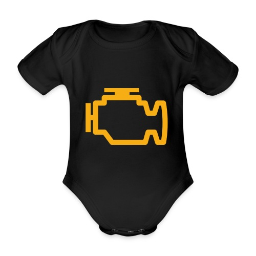 Service Engine Soon - Organic Short-sleeved Baby Bodysuit