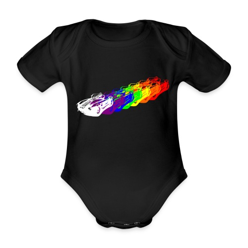Cobra Rainbow - Organic Short-sleeved Baby Bodysuit