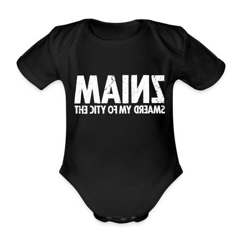 Mainz (white oldstyle) - Baby Bio-Kurzarm-Body