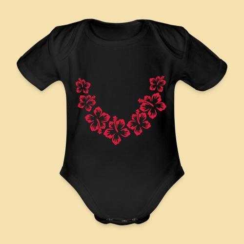 Hawaii Blumenkette - Baby Bio-Kurzarm-Body