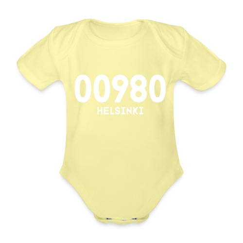 00980 HELSINKI - Vauvan lyhythihainen luomu-body