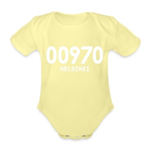 00970 HELSINKI - Vauvan lyhythihainen luomu-body