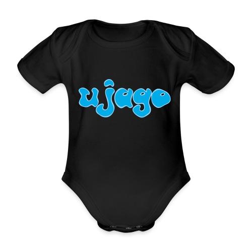 ujago_hellblau - Baby Bio-Kurzarm-Body