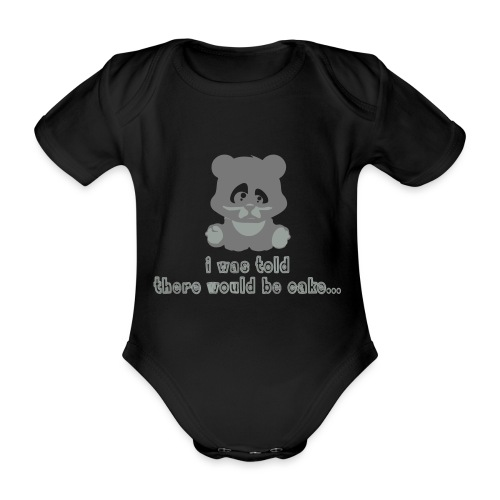 No Cake! - Organic Short-sleeved Baby Bodysuit