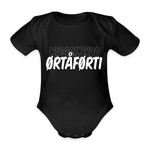 Ørtåførti - Økologisk kortermet baby-body