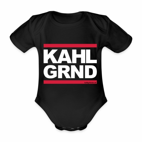 Kahlgründer KAHL GRND - WEIß/ROT - Baby Bio-Kurzarm-Body