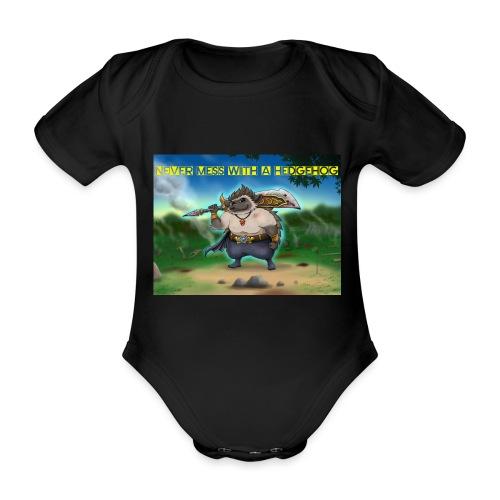 Never mess with a Hedgehog - Baby Bio-Kurzarm-Body