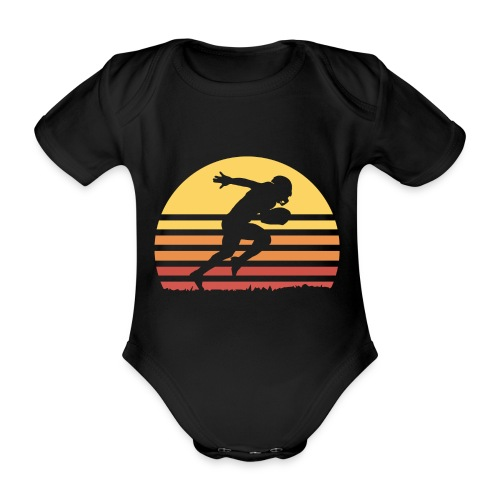 Football Sunset - Baby Bio-Kurzarm-Body