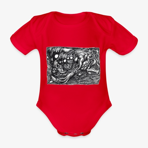 Grendel Mother Dream by Brian Benson - Organic Short-sleeved Baby Bodysuit