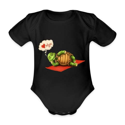 Love-Yoga Turtle - Baby Bio-Kurzarm-Body