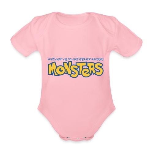 Monsters - Organic Short-sleeved Baby Bodysuit