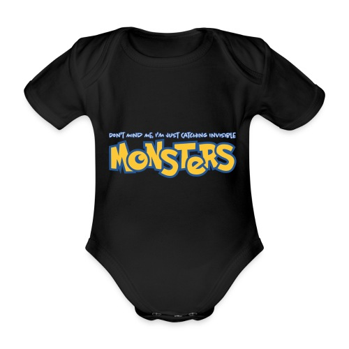 Monsters - Organic Short-sleeved Baby Bodysuit
