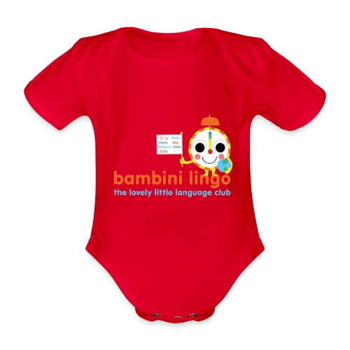 bambini lingo - the lovely little language club - Organic Short-sleeved Baby Bodysuit