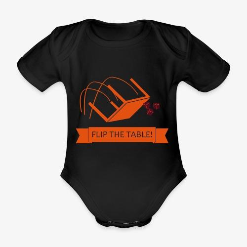 Flip the table! - Økologisk kortermet baby-body