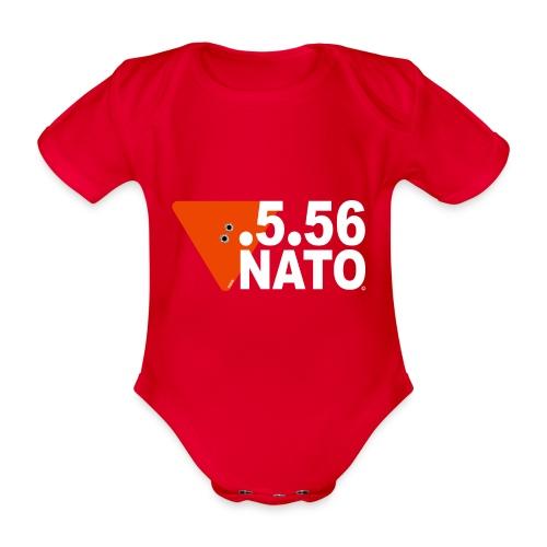 .5.56 NATO BLANC - Body Bébé bio manches courtes