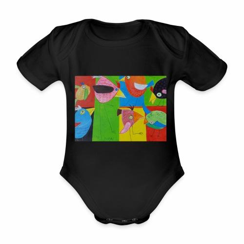 Lovebirds - Liebesvögel - Baby Bio-Kurzarm-Body