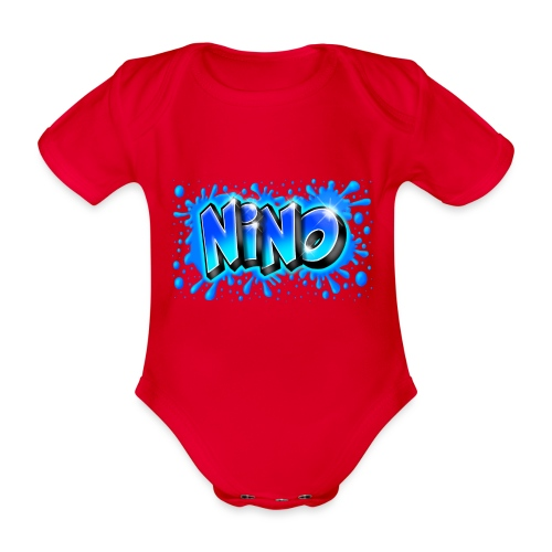 Graffiti NINO splash blue - Body Bébé bio manches courtes