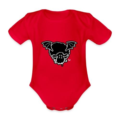 Vampire Sheep (white) - Organic Short-sleeved Baby Bodysuit