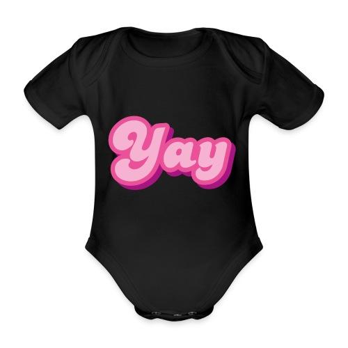 YAY in Pink - Organic Short-sleeved Baby Bodysuit