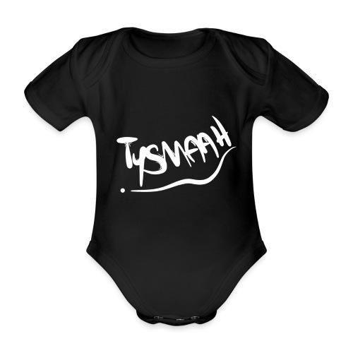 Logo blanc - TYSMAAH - Body Bébé bio manches courtes