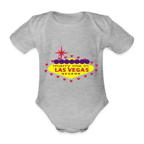 create your own las vegas wedding product - Organic Short-sleeved Baby Bodysuit