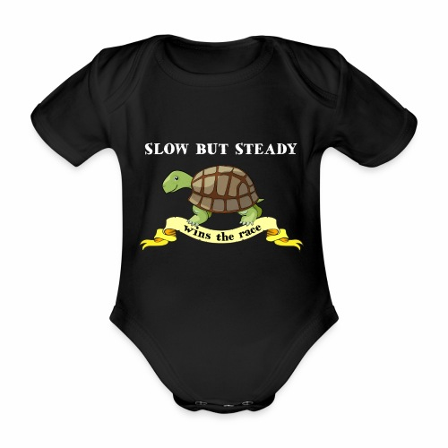 Slow but Steady - Ekologisk kortärmad babybody