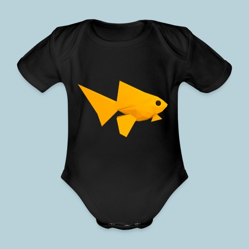 RATWORKS Fish-Smish - Organic Short-sleeved Baby Bodysuit