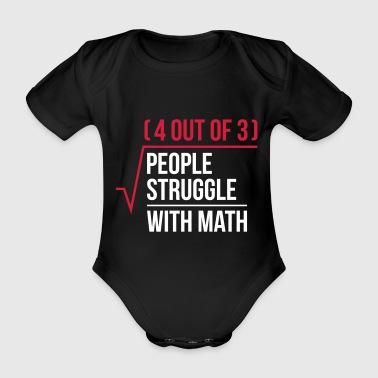 Ludzie walczą z matematyki - Ekologiczne body niemowlęce z krótkim rękawem