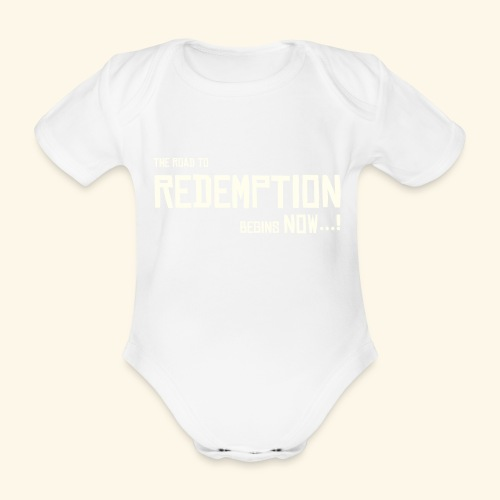 Wild West Game Text Design - Organic Short-sleeved Baby Bodysuit