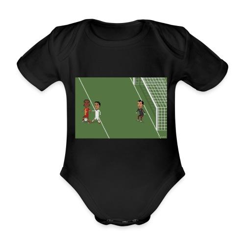 Backheel goal BG - Organic Short-sleeved Baby Bodysuit