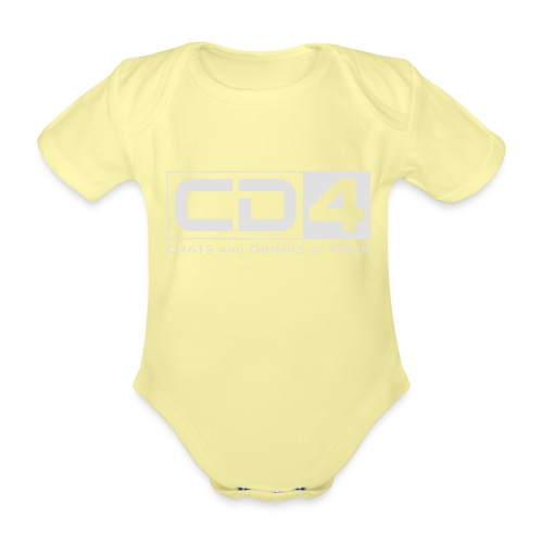 cd4 logo dikker kader bold font - Baby bio-rompertje met korte mouwen