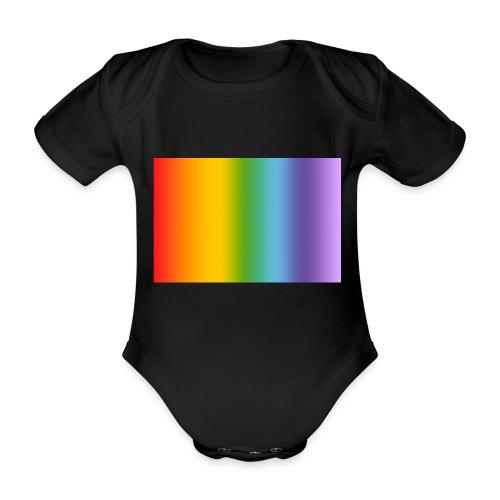 Hintergrund Regenbogen soft - Baby Bio-Kurzarm-Body