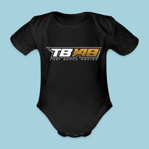 Tobi Logo Grau - Baby Bio-Kurzarm-Body