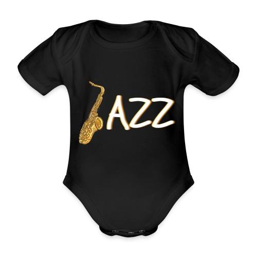 JAZZ Saxophon Saxofonist Shirt Geschenk - Baby Bio-Kurzarm-Body