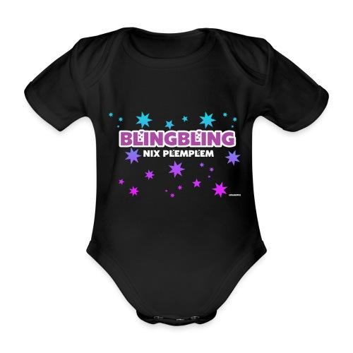 blingbling nixplemplem - Baby Bio-Kurzarm-Body