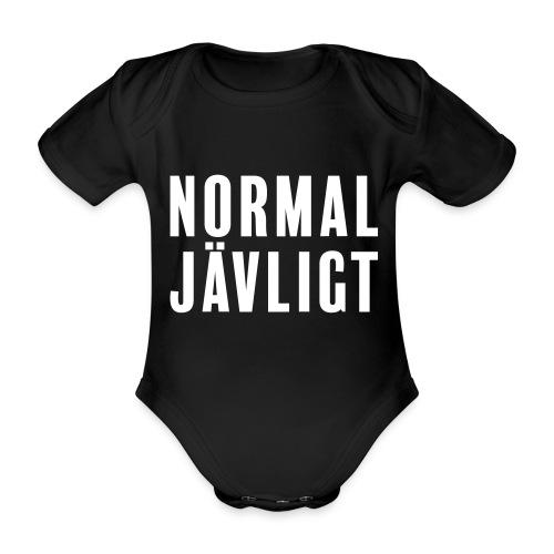 Normaljävligt - Ekologisk kortärmad babybody