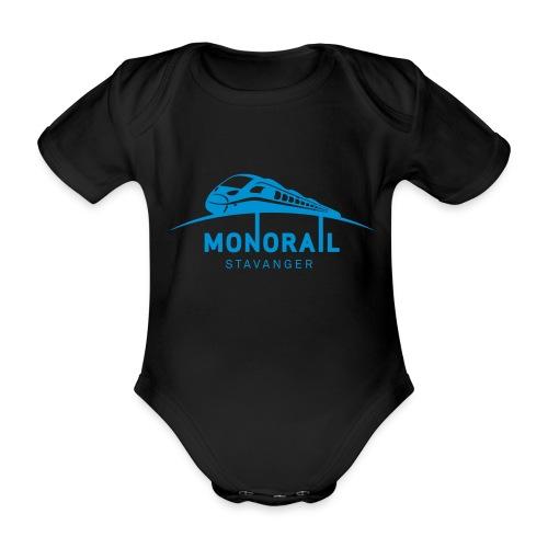 Monorail_Blå - Økologisk kortermet baby-body