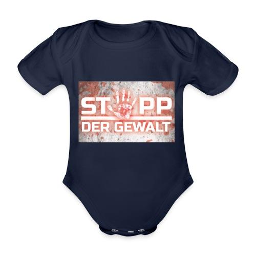 STOPP DER GEWALT - Organic Short-sleeved Baby Bodysuit