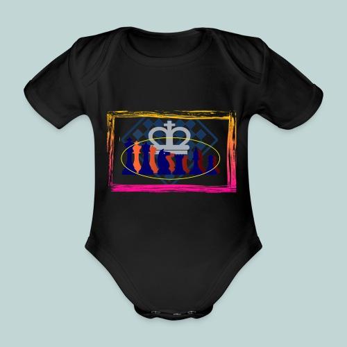 figurensatz_vor_brett - Baby Bio-Kurzarm-Body