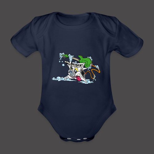Wicked Washing Machine Wasmachine - Baby bio-rompertje met korte mouwen