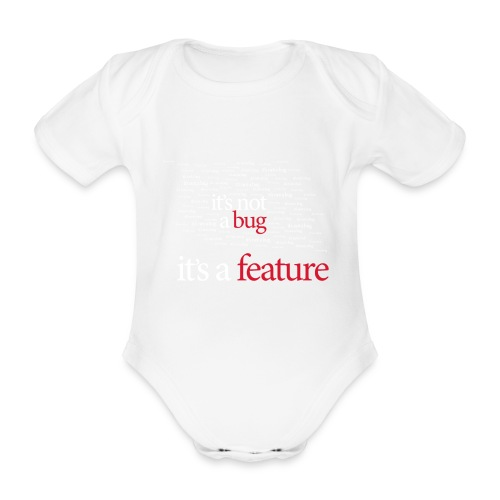 bug featureord - Organic Short-sleeved Baby Bodysuit