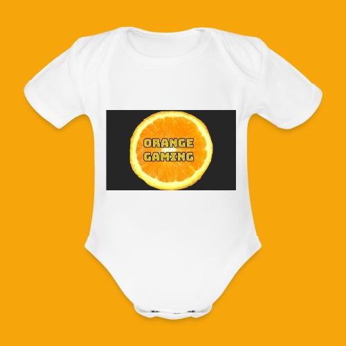 Orange_Logo_Black - Organic Short-sleeved Baby Bodysuit