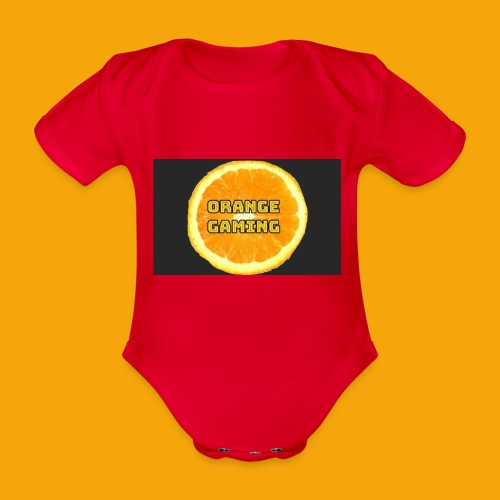 Orange_Logo_Black - Organic Short-sleeved Baby Bodysuit