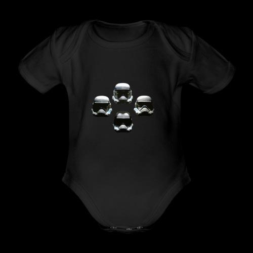 Trooper9 - Organic Short-sleeved Baby Bodysuit