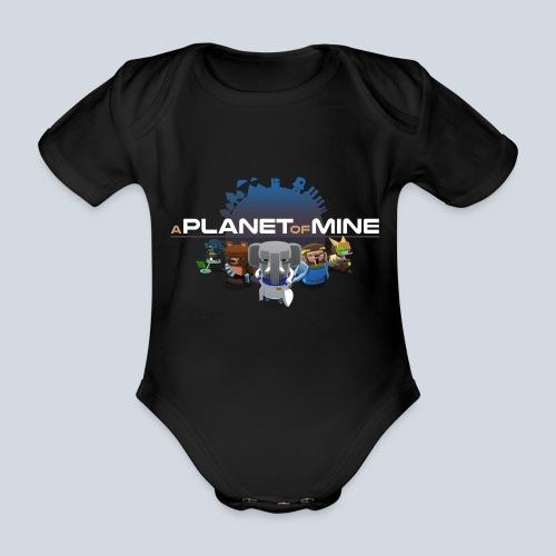logo planetofmine dark HD - Body Bébé bio manches courtes